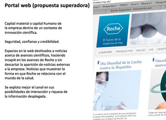ROCHE© Website design proposal