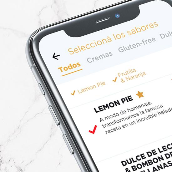 ice-cream pick-up App