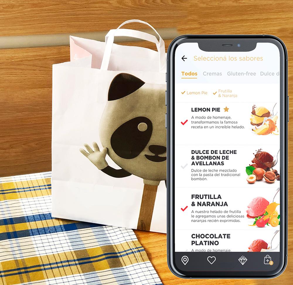 UX design UI ice cream app pick-up